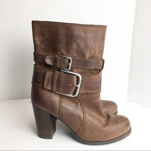 Shoes - SZ 6.5 Distressed Brown Leather Boots